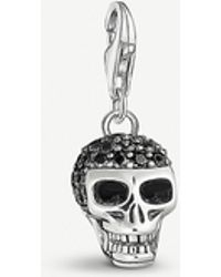 Thomas Sabo - Skull Sterling Silver And Black Zirconia Charm - Lyst