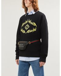 805864d0 Gucci Hollywood Ufo Cotton-jersey Sweatshirt in Gray for Men - Lyst
