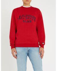 BBCICECREAM - Logo-embroidered Cotton-jersey Sweatshirt - Lyst
