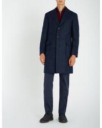 Canali - Kei Herringbone Wool Coat - Lyst