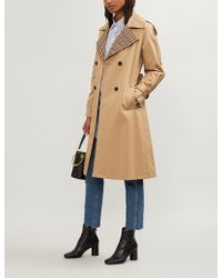 Claudie Pierlot - Garreth Cotton-gabardine Trench Coat - Lyst