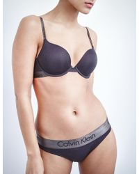 1ab736ee2ae61 Calvin Klein Iron Strength Micro Racerback Flirty Push Up Bra in ...