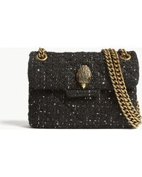 Kurt Geiger - Ladies Black Mini Kensington Tweed Shoulder Bag - Lyst
