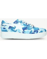 A Bathing Ape - Bape Sta Camouflage-print Canvas Trainers - Lyst