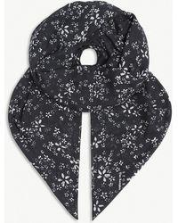 The Kooples - Floral-print Modal-blend Scarf - Lyst