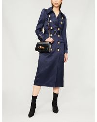Balmain - Double-breasted Woven-twill Trench Coat - Lyst