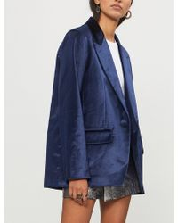 Rag & Bone - Monty Single-breasted Velvet Blazer - Lyst