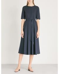 Max Mara - Ornella Tie-waist Stretch-cotton Dress - Lyst