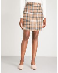 Sandro - Sunset Check-pattern Crepe Skirt - Lyst