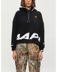 Aape - Logo-print Fleece-lined Jersey Hoody - Lyst