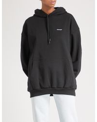 Balenciaga - Logo-print Cotton-jersey Hoody - Lyst