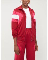 Maje - Panelled Sports-jersey Jacket - Lyst