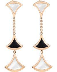 BVLGARI | Divas' Dream 18kt Pink-gold Earrings | Lyst