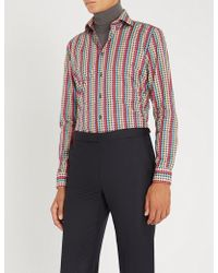 Richard James - Patterned Contemporary-fit Cotton Shirt - Lyst