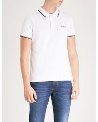 4d34d872 DIESEL T-randy Broken Logo Navy & Red Polo Shirt in Blue for Men - Lyst