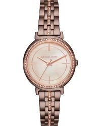 Michael Kors - Mk3720 Crystal And Rose Gold-toned Stainless Steel Watch - Lyst