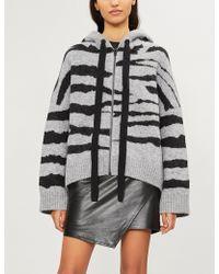 Zadig & Voltaire - Lennox Zebra-print Wool-blend Cardigan - Lyst