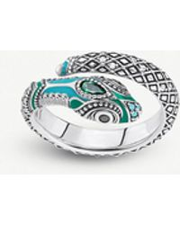 Thomas Sabo - Tropical Snake Sterling Silver And Coloured Stone Ring - Lyst