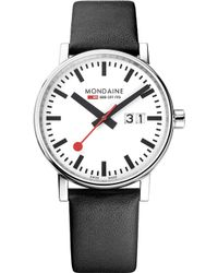 Mondaine - Mse-40210-lb Evo2 Big Leather And Stainless Steel Watch - Lyst