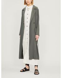 Song For The Mute - Belted Long Linen-blend Coat - Lyst