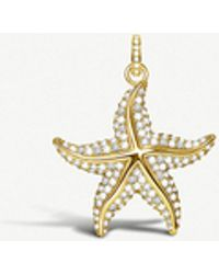 Thomas Sabo - Starfish 18ct Yellow-gold And Zirconia Pendant - Lyst