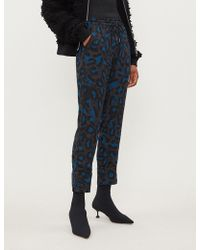 Zadig & Voltaire - Parone Leopard-print Jersey Trousers - Lyst