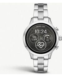 bedb9a4f170d Lyst - Michael Kors Mkt5052 Runway Pavé Stainless Steel Smartwatch