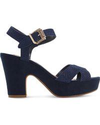 Dune - Iyla Suede Heeled Sandals - Lyst