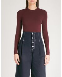 Mo&co. - Cutout-back Knitted Jumper - Lyst