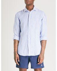 Polo Ralph Lauren - Striped Classic-fit Linen Shirt - Lyst