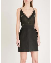 The Kooples - Cherry-embellished Chiffon Camisole - Lyst