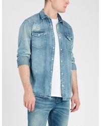 821f33a5863 Lyst - The Kooples Slim-fit Denim Shirt in Blue for Men