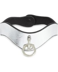 Fleet Ilya - Slim O-ring Metallic Leather Choker - Lyst