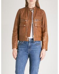Zadig & Voltaire - Goat-leather Jacket - Lyst