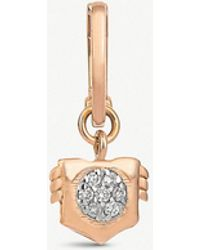The Alkemistry - Leo 14ct Rose-gold And Diamond Single Earring - Lyst