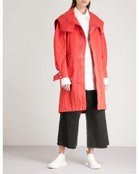 Angel Chen - Crocodile-print Cotton-blend Coat - Lyst