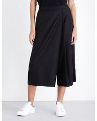 5cm - Wide-leg Twill Culottes - Lyst