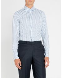 Richard James - Striped Slim-fit Cotton Shirt - Lyst