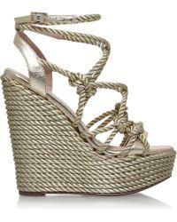 KG by Kurt Geiger | Notty Rope-detail Fabric Sandals | Lyst