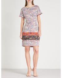 St. John - Fitted Tweed Dress - Lyst