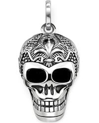 Thomas Sabo - Rebel At Heart Skull Sterling Silver Pendant - Lyst