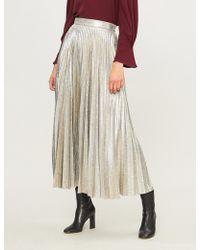 Emilia Wickstead - Sunshine Metallic-knit Midi Skirt - Lyst