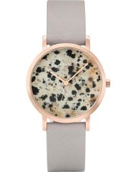 Cluse - Cl40106 La Roche Petite Rose-gold And Dalmatian Stone Watch - Lyst