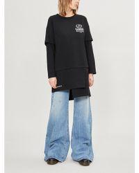 5cm - Layered Logo-print Cotton-jersey Dress - Lyst