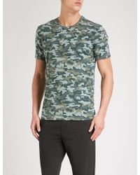 Calvin Klein | Camouflage-print Stretch-cotton Pyjama T-shirt | Lyst