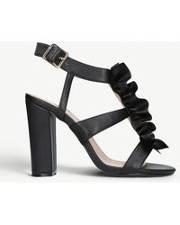 KG by Kurt Geiger - Fliss Ruched-detail Faux-leather Heeled Sandals - Lyst