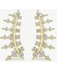 Kendra Scott - Laurie 14ct Gold-plated And Cubic Zirconia Climber Earrings - Lyst