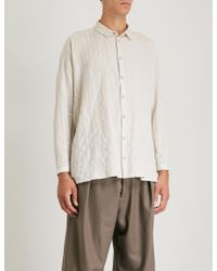 Toogood - Draughtsman Striped Relaxed-fit Cotton-blend Shirt - Lyst