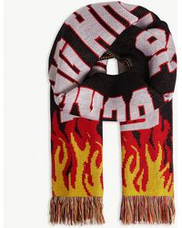 House of Holland - Flame 'house Of F***ing Holland' Scarf - Lyst