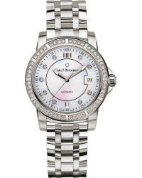 Carl F. Bucherer - Steel And Diamond Watch - Lyst